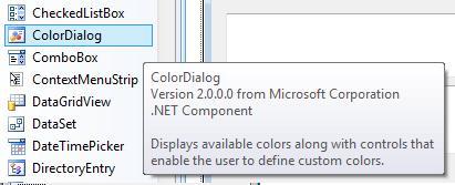 color dialog