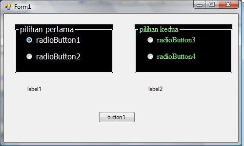 sebelum button di klik cara membuat radio button group
